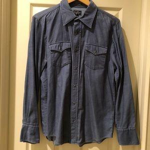 Earl jeans blue corduroy shirt